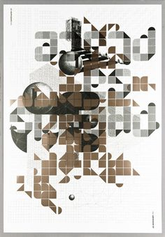 double passe poster by les graphiquants