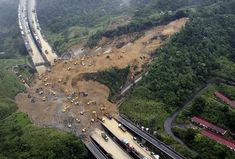 Pictures for teaching inferences - landslide natural disaster