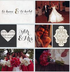 Wedding Pocket Page Layout