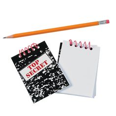 Top Secret Notebooks - OrientalTrading.com