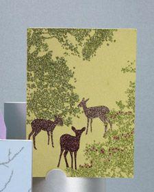 Glitter deer cards