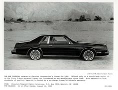 Imperial   1981 (Chrysler) Imperial Press Releases