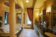 Another dream bathroom with columns