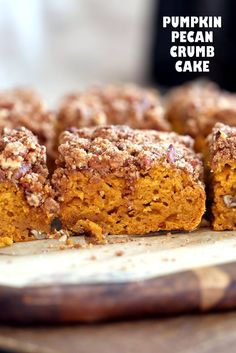 Vegan Pumpkin Coffee Cake with Pecan Crumb - Vegan Richa
