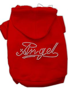 """Angel"" Dog Hoodie by Mirage Pet Products (Red) #InkedShop #dog #puppy #pet #hoodie #hoody #petclothing #petclothes #angel"