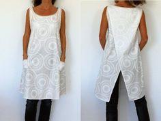Patron de couture à télécharger - Tunique femme croisée dans le dos avec la vidéo du cours de couture