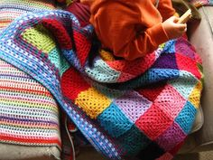 pattern, crochet blanket, no joining blanket