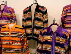 Seminole Patchwork Blouses at the Marion County Museum in Ocala Florida which is a part of the Lavers Collection.
