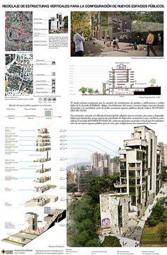 Reciclaje de estucturas verticales para la configuración de nuevos Espacios Público - Rapido EXPOUPB 75 años - Proyecto seleccionado para exposición en el parque del Poblado by Juan Esteban Giraldo