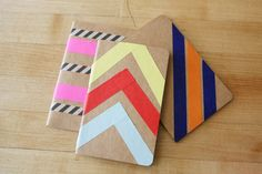 Pinterest Inspired DIY Washi Tape Notebooks — my.life.at.playtime.