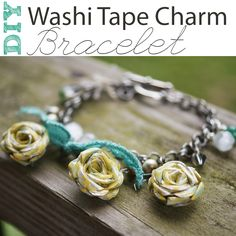 Sizzix Charm Bracelet Tutorial using washi tape @savedbyloves