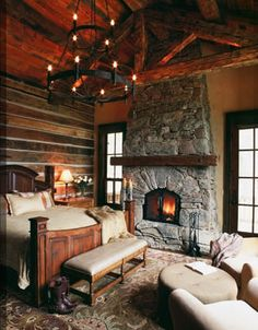Yes yes yes yes yummy bedroom.  Candace Miller Architects, Bozeman, Montana