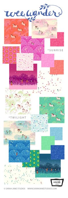 Wee Wander Fabric Collection || Sarah Jane