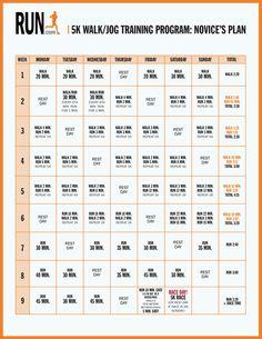 5k Training Plan: finish your first w/ this 9-week plan