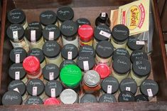 Easy fix - label the tops of your spice jars if you keep them in a drawer so you can find the one you want easily without having to pick up and look at the label of each one at random {featured on Home Storage Solutions 101}