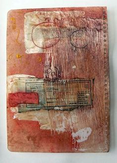 A5 mixed media work on paper using wax by Microboo