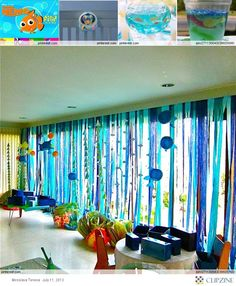 Under the Sea Theme Party... or get Sweeps to help with your party or event! http://www.sweeps.jobs