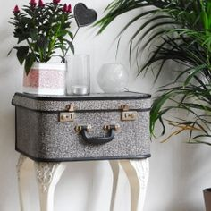 † ♥ ✞ ♥ † Grab any old suitcase  & recycle  it into a vintage looking side table † ♥ ✞ ♥ †