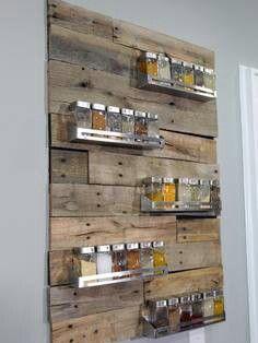Spice shelves on pallets