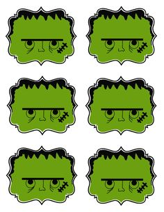 Five different templates...gift tags for Halloween