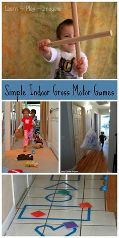 6 indoor gross motor games to keep kids active - little to no prep time involved!