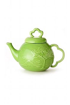 Pretty green teapot.