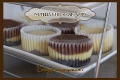 nutella swirl, cheesecakes, swirl cheesecak, food, nutella cheesecake cups
