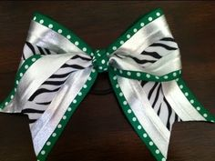 How to Make a Big Spandex Cheer Bow with Ribbon