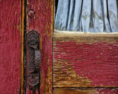 Rustic Red Door 8x10 Fine Art Photograph by JennasBeachRetreat