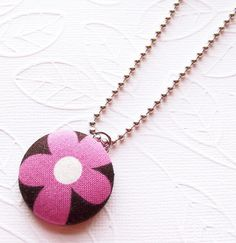 etsy kit covered button necklace