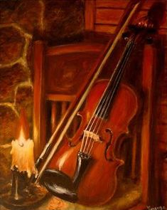 Violin By Candlelight.