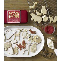 7-Piece Critter Cookie Cutter Set by crateandbarrel #Cookie_Cutters