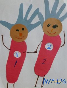 Thing One and Thing Two Hand print craft for kids