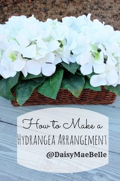 How to Make an Arrangement out of Hydrangea flower arrang, parti 34, hydrangea arrang, outdoor stuff, linki parti, hydrangea bush, diy, hydrangeas
