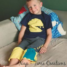Remember the glory days or arcades and the wokka wokka of Pac Man and Ms. Pac Man when you sew this Pac Man Pajama Pattern for your kiddo. This awesome set of a decorative shirt and DIY sewn pants will have your kid begging to slip into their pajamas.