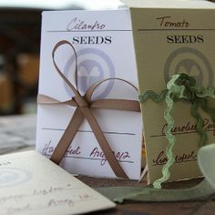 Printable Seed Packet Templates to Give or Keep