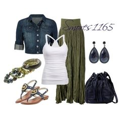 """Silk Maxi Skirt"" by smores1165 on Polyvore"