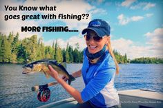 What goes great with fishing?? More fishing! Host Rebekka Redd is currently on location filming the new season of The New Fly Fisher! She sent us this awesome picture of a walleye she hooked on the fly!