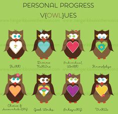 YW Personal Progress V{owl}ues Clipart: Free!