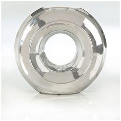 Modern Home Silver Round Vase