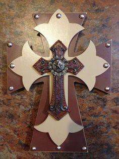 Western wood cross by grammieself on Etsy