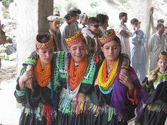 Dancing Kalash girls