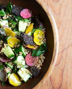 Farro and Cucumber Salad + BEETS