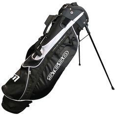 """S:650 Stand Bag in Black and White - Includes new design balanced double strap, large storage pockets and a 6.5"""" divider top"""