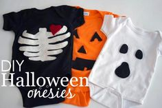 DIY Halloween Onesies - cute and easy costumes for baby!