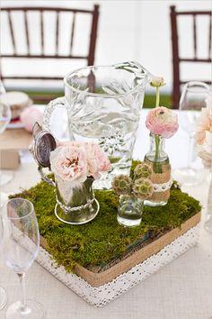 pink shabby chic table decor ideas