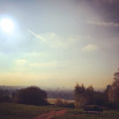 Hazy sunshine over Parliament Hill in London today 14°C I 58°F #BurberryWeather