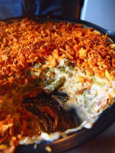 vegan casserole recipes, side veggi, vegan green bean casserole, improv food, vegan green beans, nice food, food daili, casserol vegan, veggi side