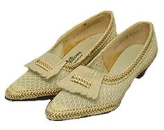 Cream Mesh Vintage Shoes