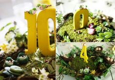 I love these wedding table numbers!